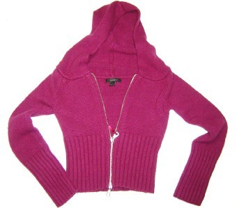 WOMEN LADIES EXPRESS PURPLE SWEATER HOODIE SMALL S