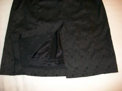 WOMEN MARIAGE BLACK EVENING DRESS SIZE 10 EMBOSSED