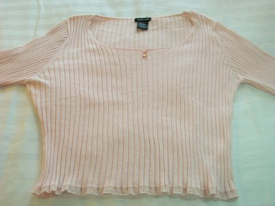 WOMEN WILLI SMITH PINK TOP SHIRT XL EXTRA LARGE