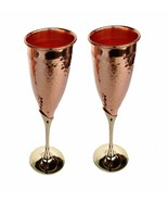 Wine Glass Pure Copper Tableware Bar Hotel Restaurant Serving Wine Whisk... - $46.79