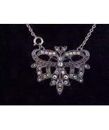 Aurora Borealis Rhinestone Pendant Brooch Neck... - $24.99