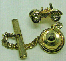 Sarah Coventry Cov Dune Buggy Beach Car Convertible Tie Tack Pin Chain G... - $5.89