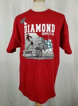 Diamond Supply Co. T-Shirt XL Thief Gem Heist Police Chase Red Short Sle... - $29.94