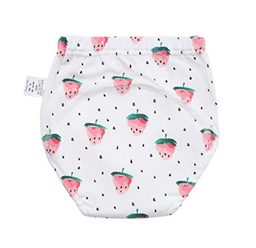 2 Pieces Of Baby Diapers Training Pants Strawberry Pattern