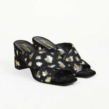"""Saint Laurent Textured Velvet """"Lou Lou"""" Slide Sandals SZ 38 - $485.00"""