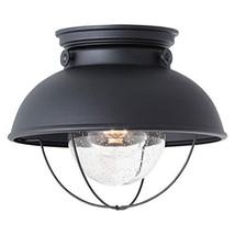 Sea Gull Lighting 8869-12 Sebring Transitional One - Light Outdoor Ceiling Flush - $141.27