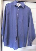 TOMMY HILFIGER POPLIN SHIRT 100% COTTON OXFORD LOOK L/S Blue Men's 16 1/... - $29.95