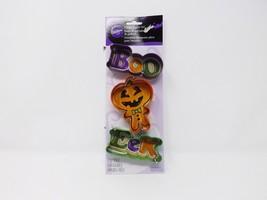 Wilton Comfort-Grip Cutter Set Cookie Cutter - New - Boo, Eek, & Pumpkin... - $8.54