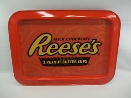 Reese's Peanut Butter Cups Orange Metal TV Tray w/ Folding Legs Kids Lun... - $22.57