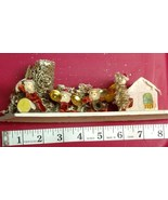 Vintage CHRISTMAS Village Large PUTZ Cardboard House Rare Santa with Mus... - $79.99