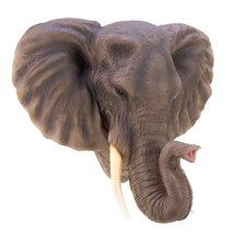 Gifts & Decor Noble Elephant Wall Lifelike Majestic Decorative Plaque - $79.95