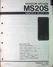 Yamaha MS-20 S Monitor Speaker Original Service Manual, Schematics, Part... - $21.77
