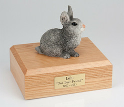 Rabbit Gray Figurine Pet Cremation Urn Available in 3 Different Colors &... - $169.99+