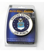USAF US Air Force Emblem Enamel Car Grill Medallion 3 Inches - $15.95