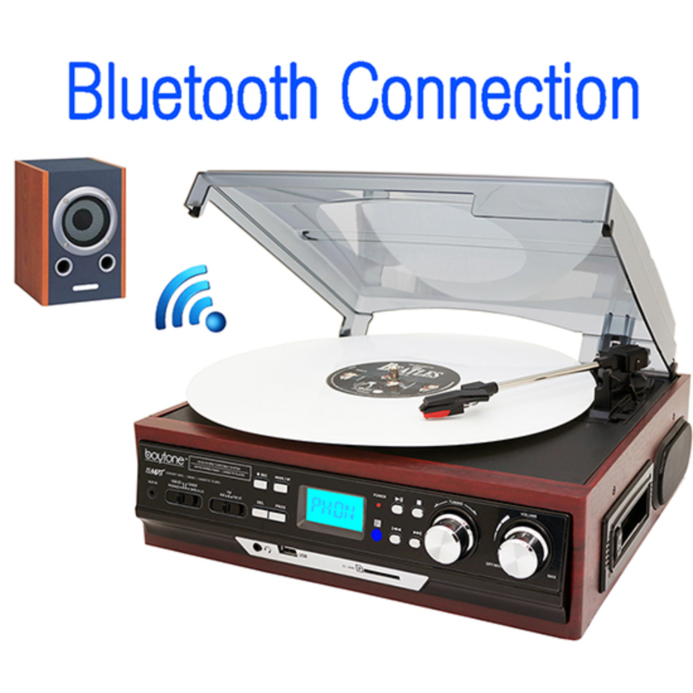 Boytone BT-37M-C, Connect Wirelessly to Bluetooth Speaker Devices 3-speed Stereo