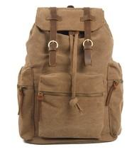 Mens Men Retro handmade canvas leather overnight duffel weekend tote bag travel  - $88.74