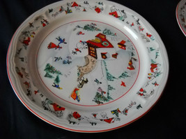 Katherine Babonovsky White Christmas salad plate (6 available) - $13.99