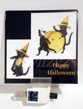 Halloween Vintage Scrap Art Reproduction BLACK CAT BAND PARADE Night Light - €9,31 EUR