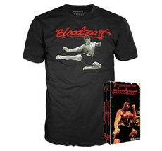 Men's Blood Sport Funko Home Video VHS Boxed Short Sleeve Tee Exclusive NIB image 3