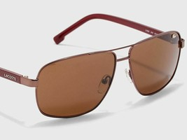 LACOSTE Men's Pilot Sunglasses L162S 210 Brown NEW L162 61mm Large NEW - $63.30
