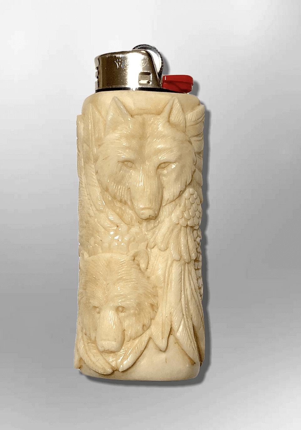 Bone Carved Handmade Eagle Head Bear Head And 15 Similar Items