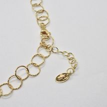 HALSBAND 925 SILBER FOLIE GOLD MIT KREISE BY MARIA IELPO MADE IN ITALY image 7