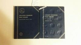 2 Books Whitman Liberty 1937 and Franklin 1948 Half D Coin Folder Books ... - $5.89
