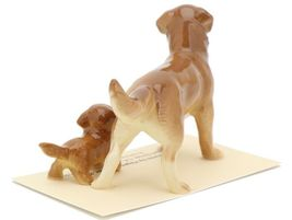 Hagen Renaker Miniature Dog Golden Retriever and Puppy Ceramic Figurine image 5
