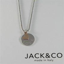 Necklace Ball Silver 925 Jack&co with Heart Pink Gold in 9KT JCN0545 image 1