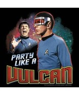 Star Trek Classic TV Series Spock Party Like A Vulcan Collage T-Shirt NE... - $19.30