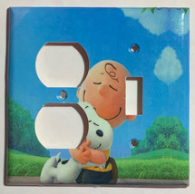 Peanuts Snoopy Charlie Brown Hug Light Switch Power wall Cover Plate Home decor image 4