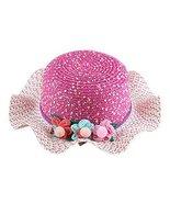 Gentle Meow Straw Hat Children Sunscreen Beach Hat Pretty Girl Wide Brim... - $13.70