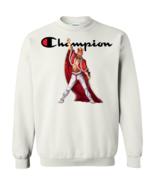 Freddie Mercury Champion G180 White Pullover Sweatshirt  8 oz - $29.95+