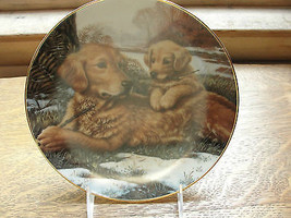 Golden Moments, A Sporting Generation Collector plate, Jim Lamb, dog, 1990 - $32.40