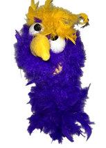 "C16 * Deluxe Custom ""Purple / Yellow Top Bird""  Sock Puppet * Custom Made - $10.00"
