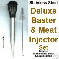 New Meat Injector Baster Set w Cleaning Brush by Norpro Bonanza