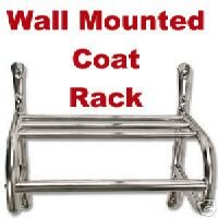 New Chrome Wall Mounted Coat Rack 16