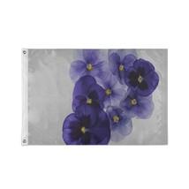 Outside Decorative Flags Beautiful Blue Purple Wild Flowers Custom Decor Garden  - $24.99