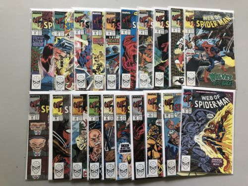 Lot of 20 Web of Spider-Man (1985 1st Series) #42-61 VF Very Fine
