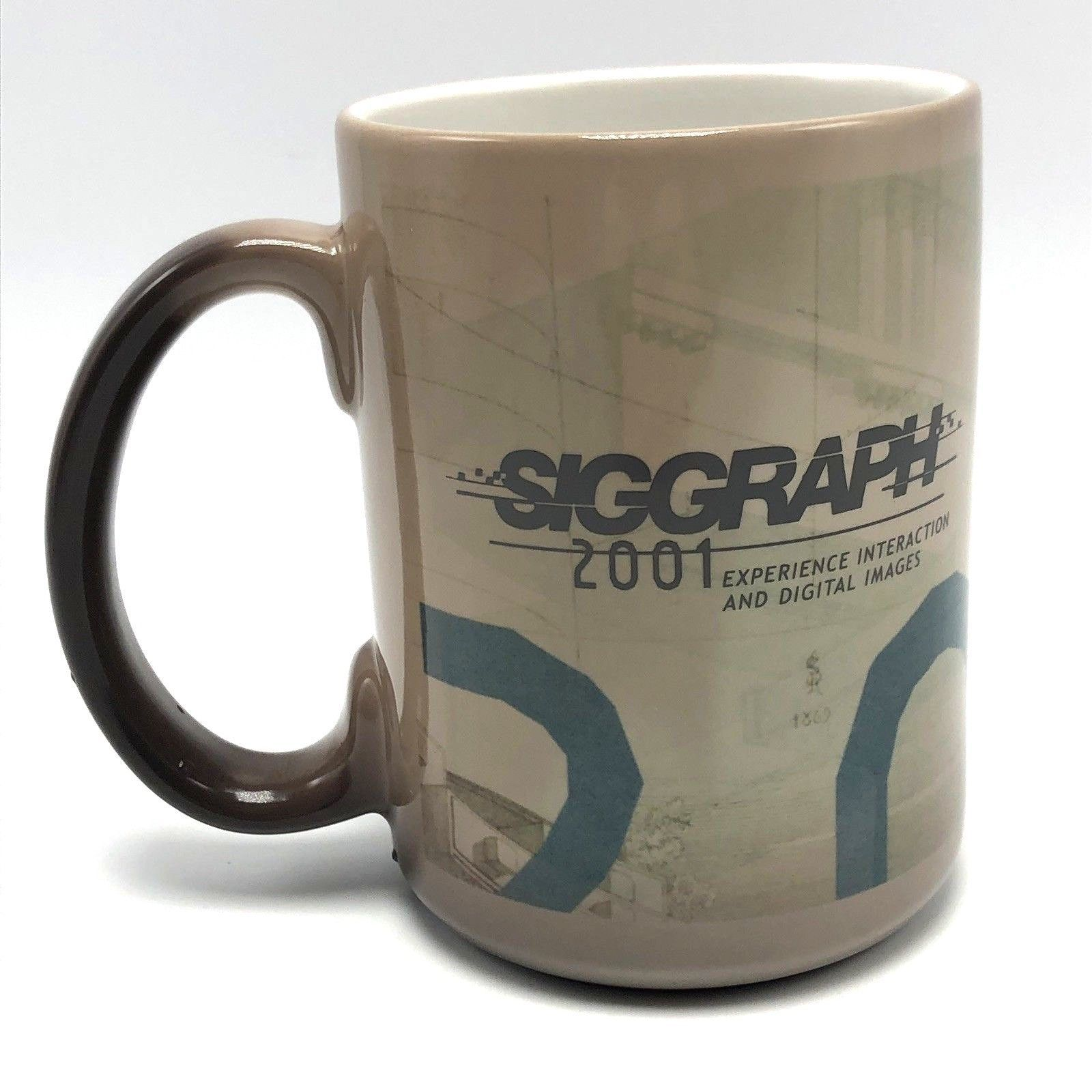 SIGGRAPH 2001 Magic Color Changing Coffee Mug Computer Graphics Ceramic NOS