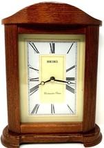 Seiko Quartz Westminster Chimes Mantle Clock QXJ205BLH - Working - $49.50
