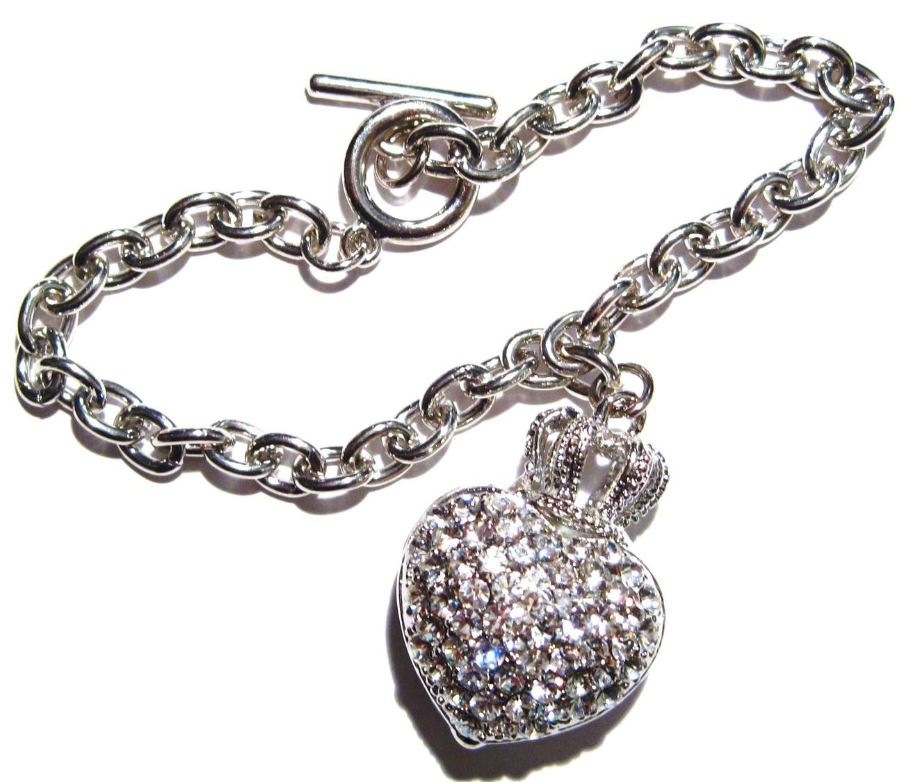 Br11 crystal heart bracelet