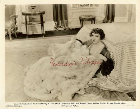 Claudette Colbert The Bride Comes Home 1935 Film Photo