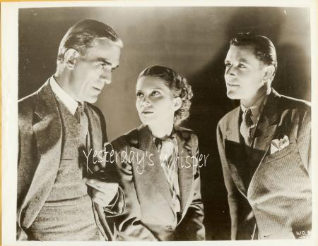 Boris Karloff Warren Hull WALKING Dead VINTAGE PHOTO