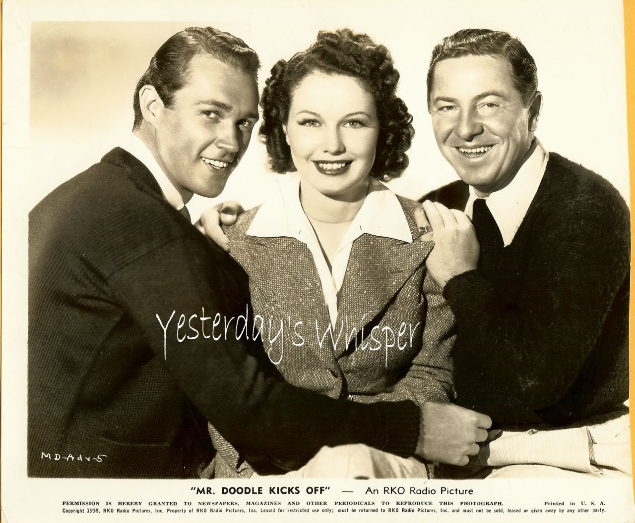 June Travis Richard Lane Original 1938 Movie PHOTO