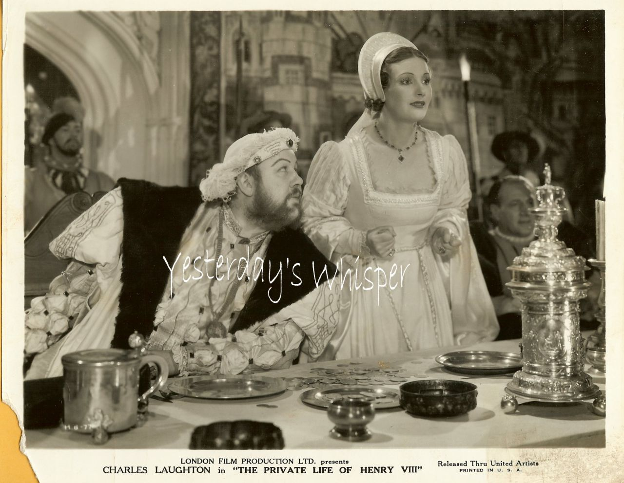 Charles Laughton The Private Life of Henry 1933 Photo