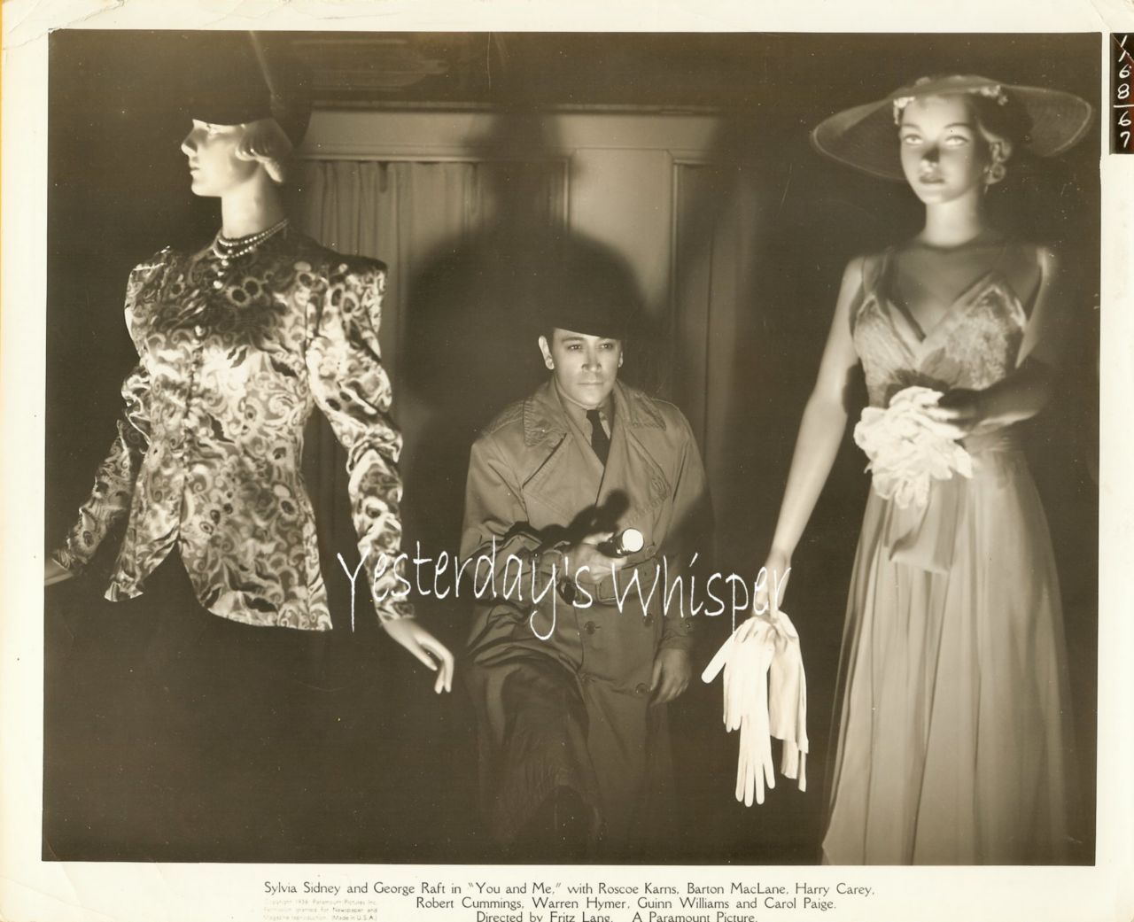 George Raft Mannequins 1938 Fritz Lang Movie Photograph
