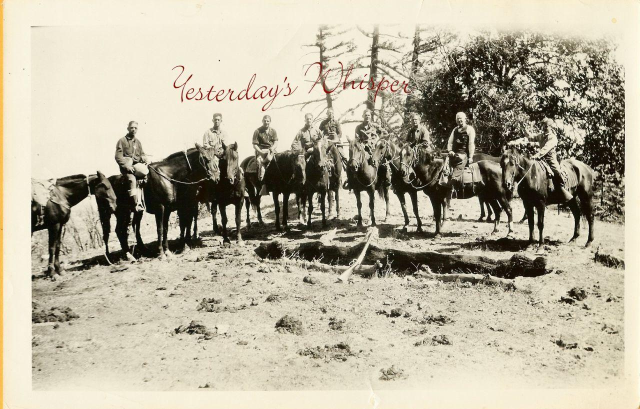 UNKNOWN Silent Era Cowboy Western Crew Horses PHOTO