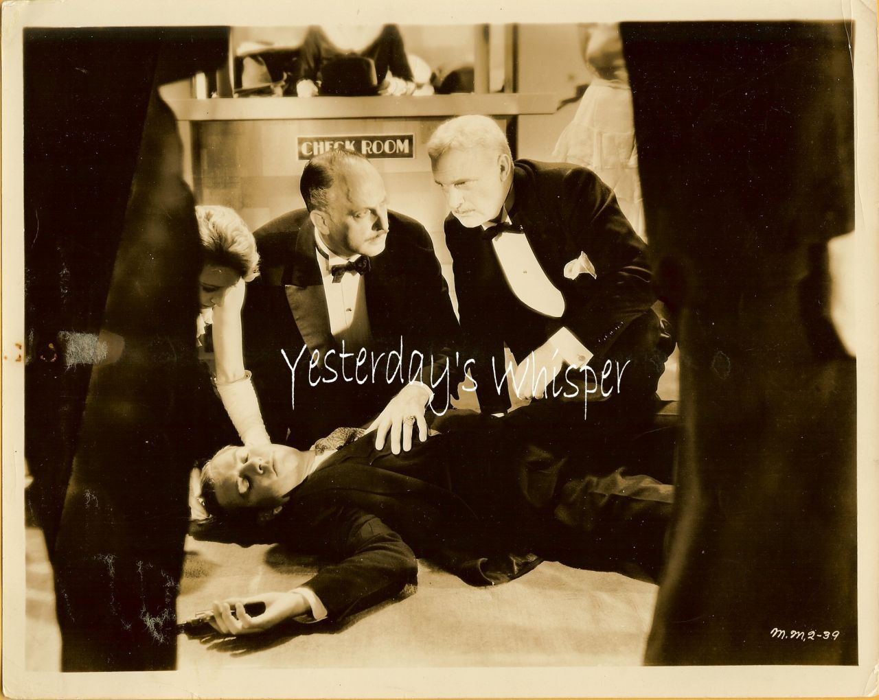 UNKNOWN Actors 1930s Movie Mystery Lobby PHOTO
