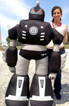 Giant Stuffed Robot 5 Feet Tall Enormous Soft Black Robo Plush 60 Inches... - $397.11